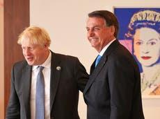 Boris Johnson asked for 'emergency' food deal, claims Brazil's Bolsonaro