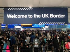 'Human logjam' at airports as Border Force IT glitch causes chaos