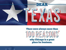 Chicago targets Texas Republicans with adverts urging business to flee abortion laws