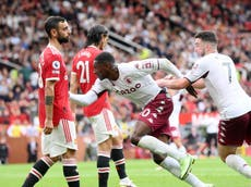 Manchester United beaten by Aston Villa at the death as Bruno Fernandes misses late penalty