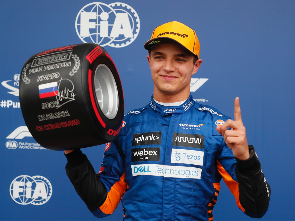 Lando Norris claims unexpected pole position for Russian Grand Prix
