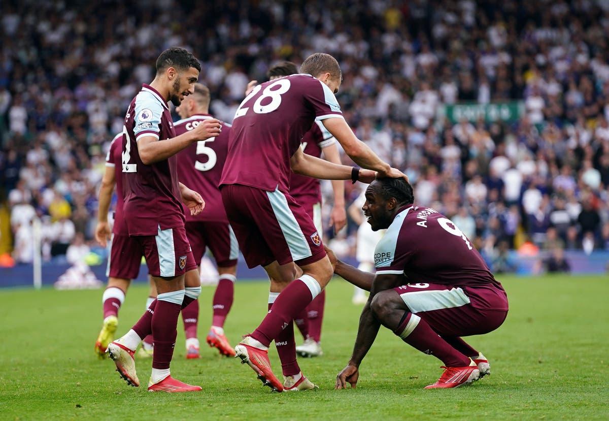 Michail Antonio's late West Ham winner sees Leeds' troubling start continue