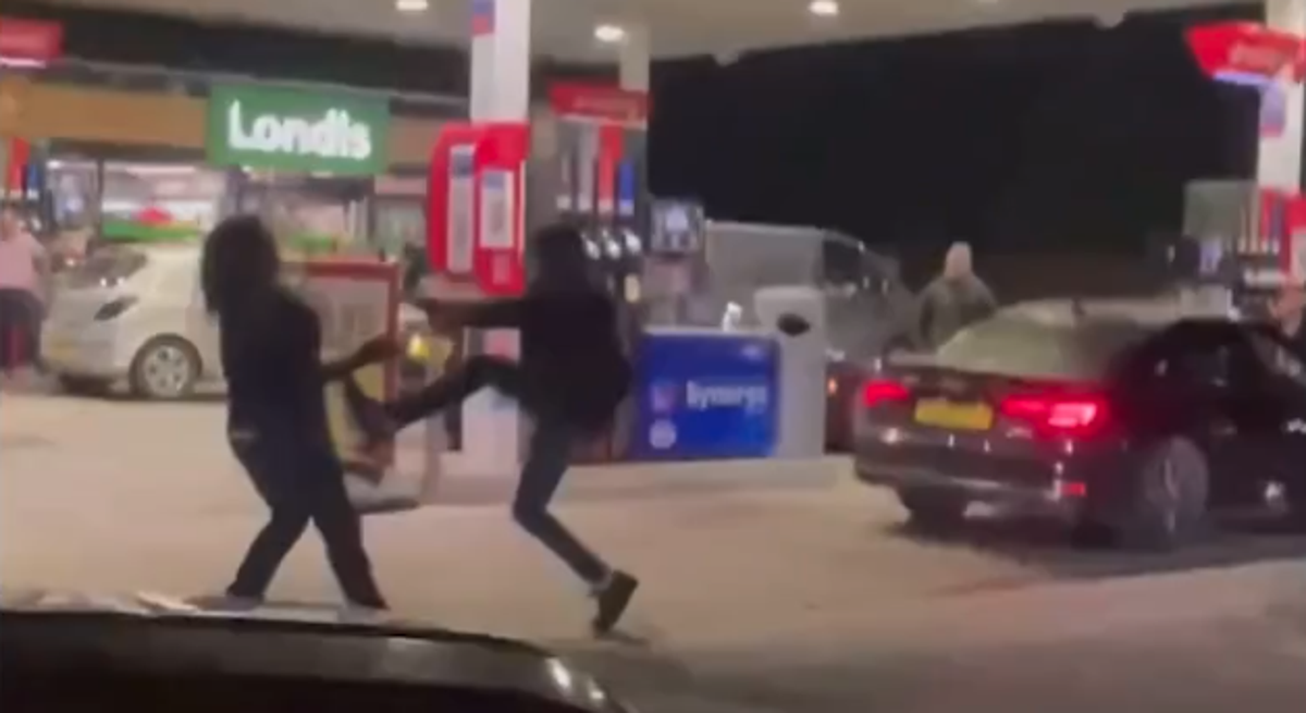 Fight breaks out on petrol station forecourt as panic-buying frustrations boil over