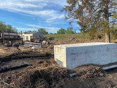 Hurricane Ida swept away coffins in a Black town outside the levee system – and residents are still pleading for help