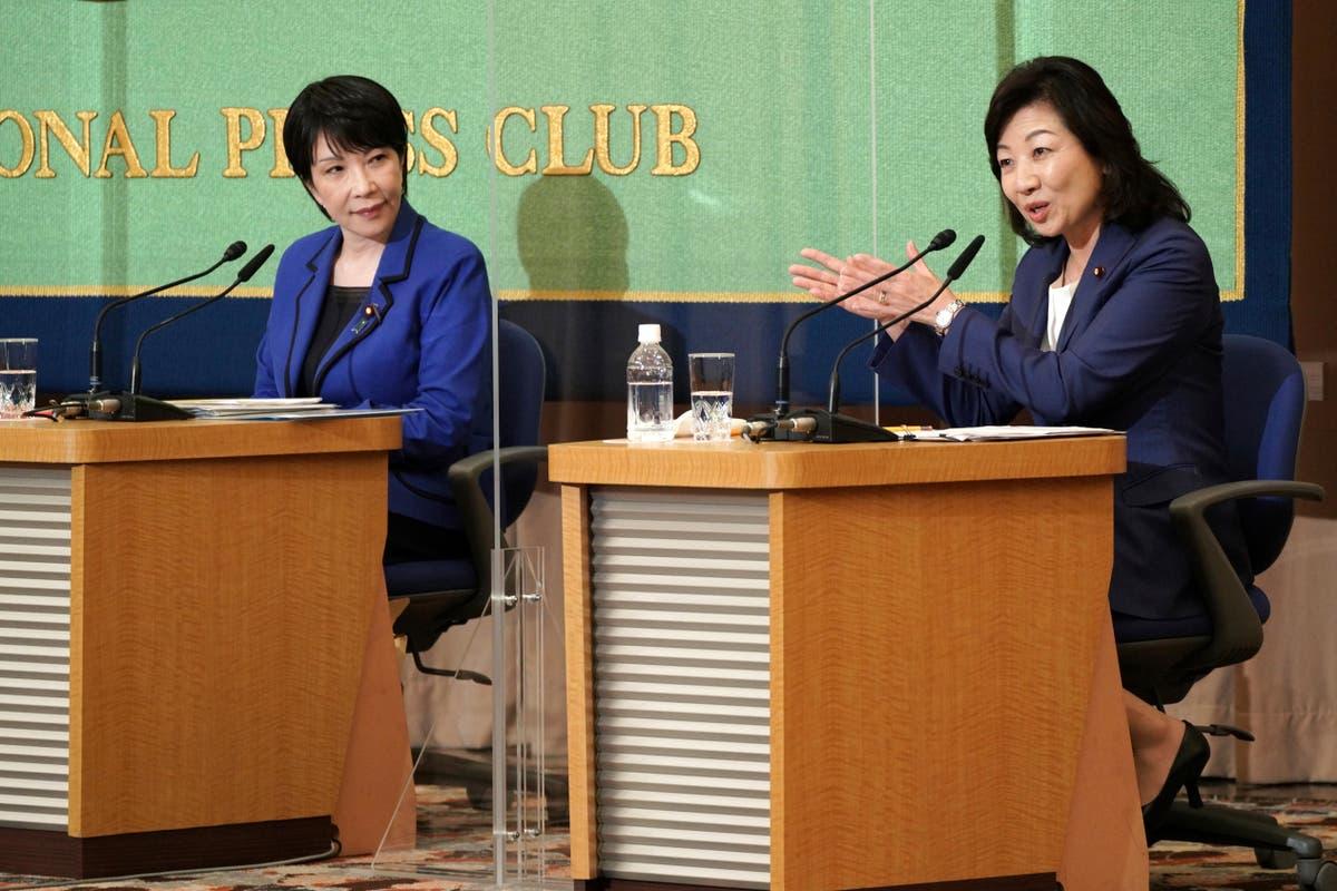 2 femmes, political opposites, vying in race for Japan PM