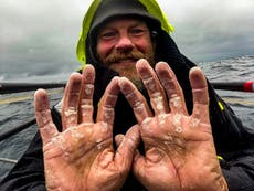 Former Marine completes unsupported row across Atlantic, besteding 119 days alone