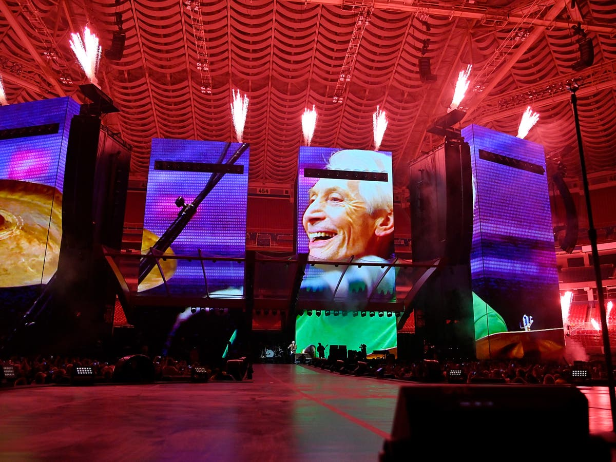 Rolling Stones pay tribute to Charlie Watts at first tour without drummer
