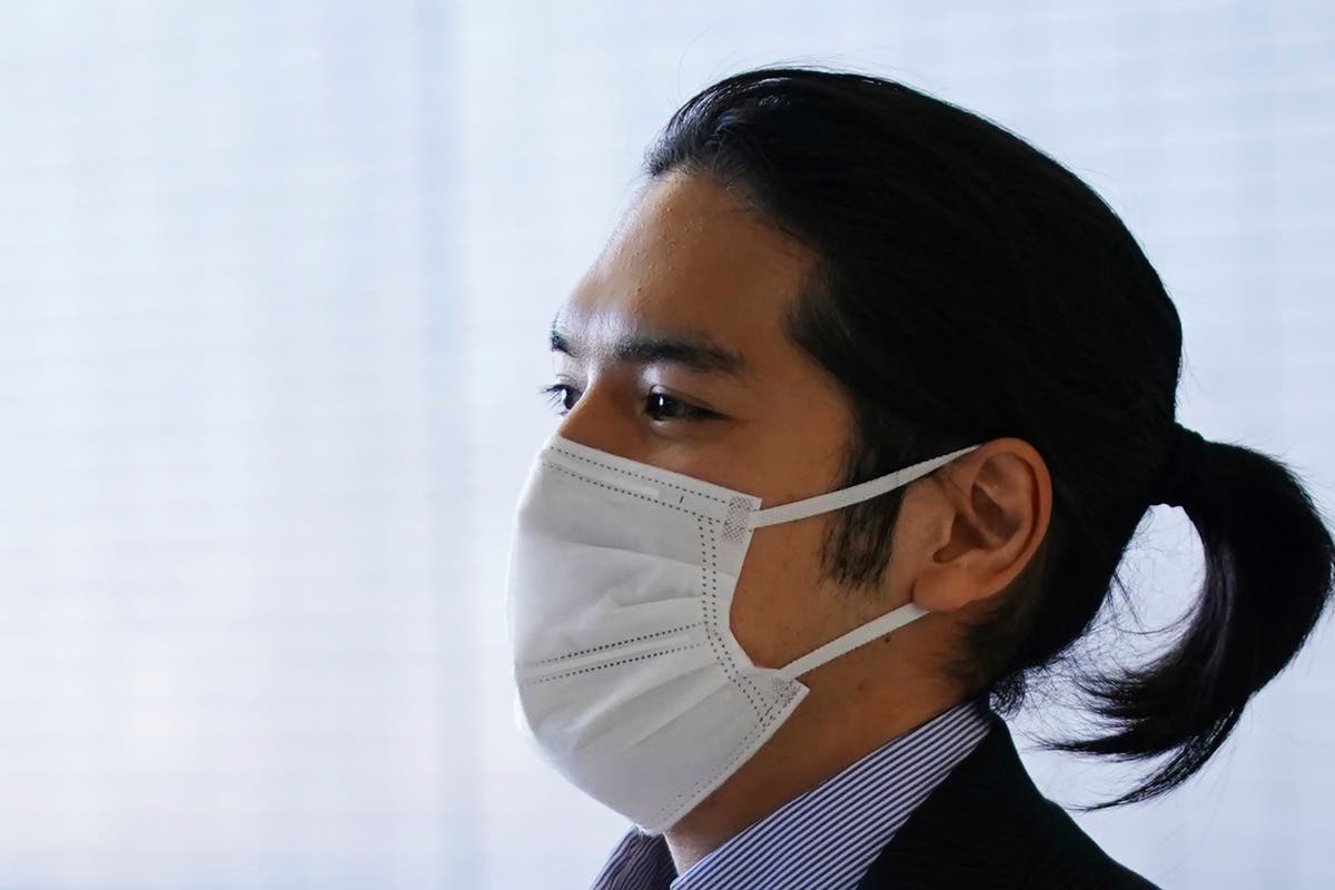 Japanese princess's fiancé returns for delayed marriage