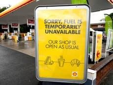 Boris Johnson considering using army to supply petrol – follow live
