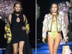 Kate Moss and daughter Lila hit catwalk together for Fendi x Versace collaboration