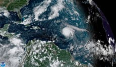Hurricane Sam swirling over Atlantic with Category 4 winde