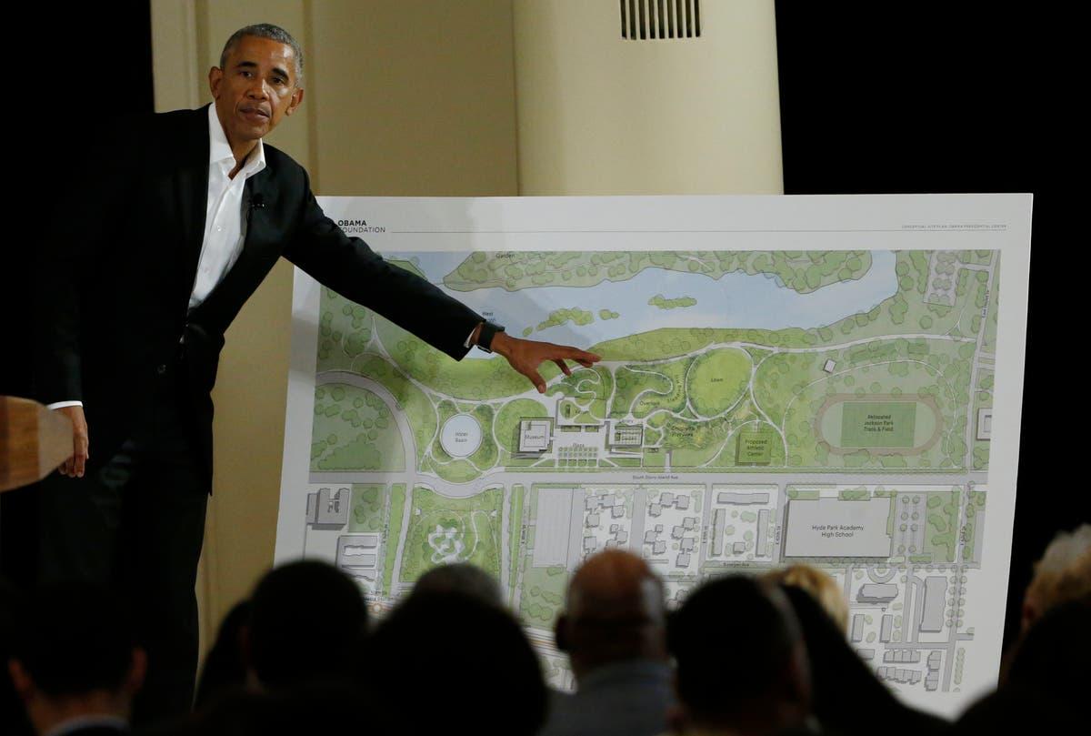 后 5 年, Obamas to break ground on Presidential Center