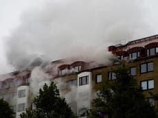 25 スウェーデンのヨーテボリのアパートのブロックで爆発した後、病院で
