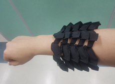 Snake scale-inspired stretchable battery developed in Korea