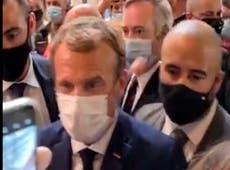 フランス: Man who threw egg at Macron in psychiatric treatment