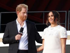 Harry and Meghan criticised for using private jet after climate change event
