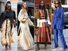 Vibrant colours and bold prints: The biggest street style trends at fashion week