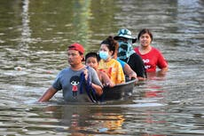 Thailand floods: Bangkok on alert after six dead and 70,000 homes inundated