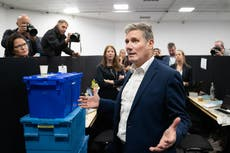 Starmer speech disrupted by left-wing hecklers – live