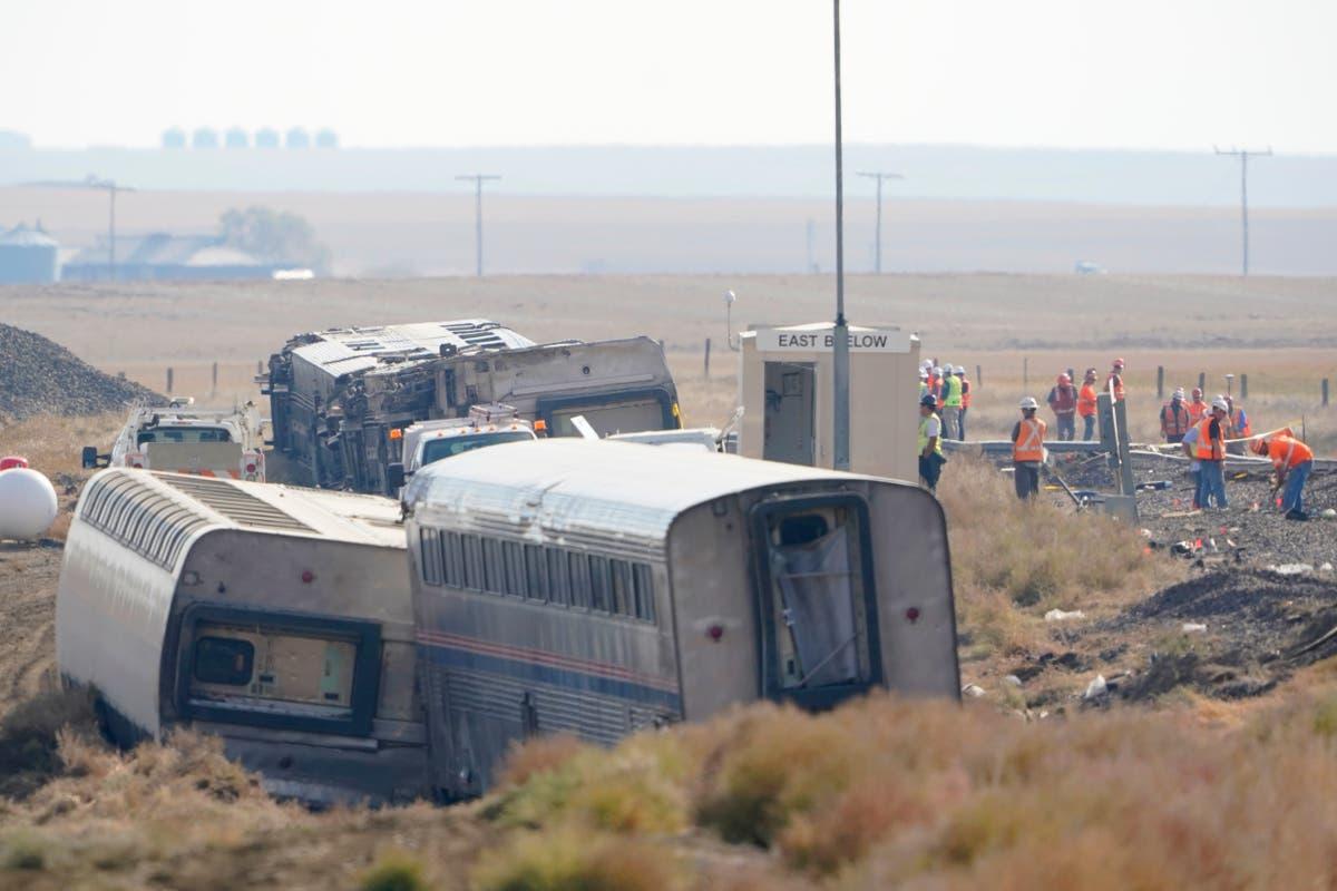 Couple celebrating 50th anniversary died in train derailment