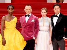 ダニエル・クレイグ, Lashana Lynch and more arrive for James Bond premiere