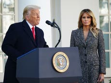 Melania took revenge on husband by being escorted by military aides, new book claims