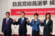 Japan's ruling party to vote for new leader to replace Suga