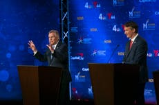McAuliffe, Youngkin hold fiery debate on vaccinations, skatter