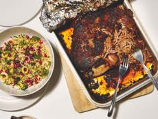 This slow-roasted harissa lamb shoulder recipe is meant to impress