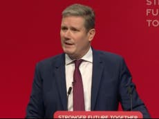 Keir Starmer tries to silences left-wing hecklers: 'You don't bother me'