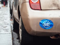 Drivers must remove GB car stickers when in Europe under Brexit travel changes