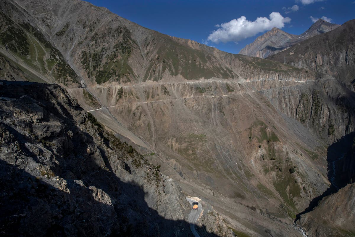 AP PHOTOS: India builds strategic tunnel project in Kashmir