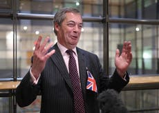 Farage says he was hit by van after searching seven petrol stations for fuel