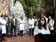 Harvard doctors protest outside Moderna CEO's home