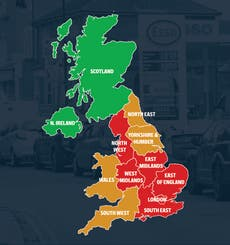 Map shows areas hit hardest by UK's fuel crisis as panic buying continues