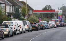 Long queues continue amid fuel shortages - follow updates live