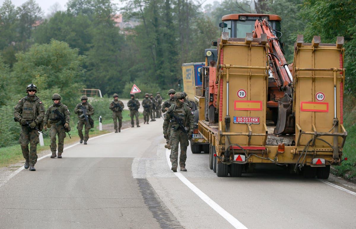 NATO troops patrol Kosovo-Serbia border after truck blockade