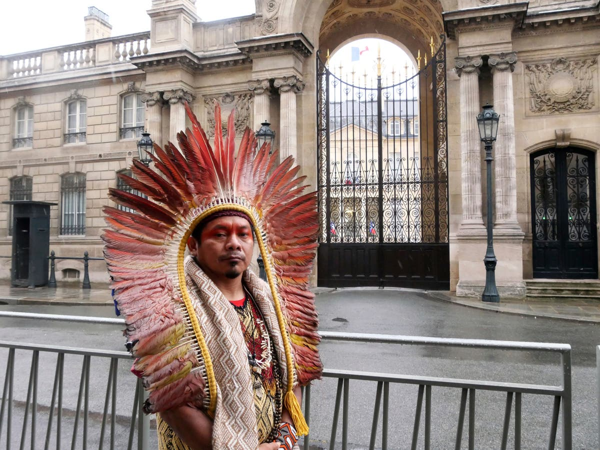 Indigenous leader to France's Macron: Save the Amazon