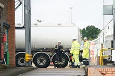 Boris Johnson blames hauliers for Brexit shortage of lorry drivers