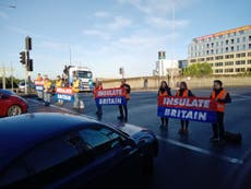 Insulate Britain activists in heated clash with drivers after blocking Blackwall Tunnel in London