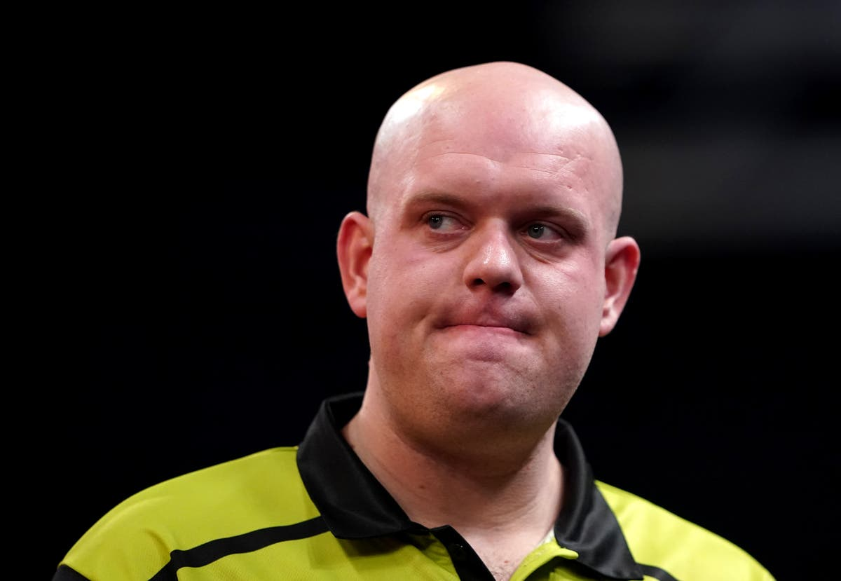 Michael van Gerwen denies 'stamping' at the oche to put opponent off during defeat