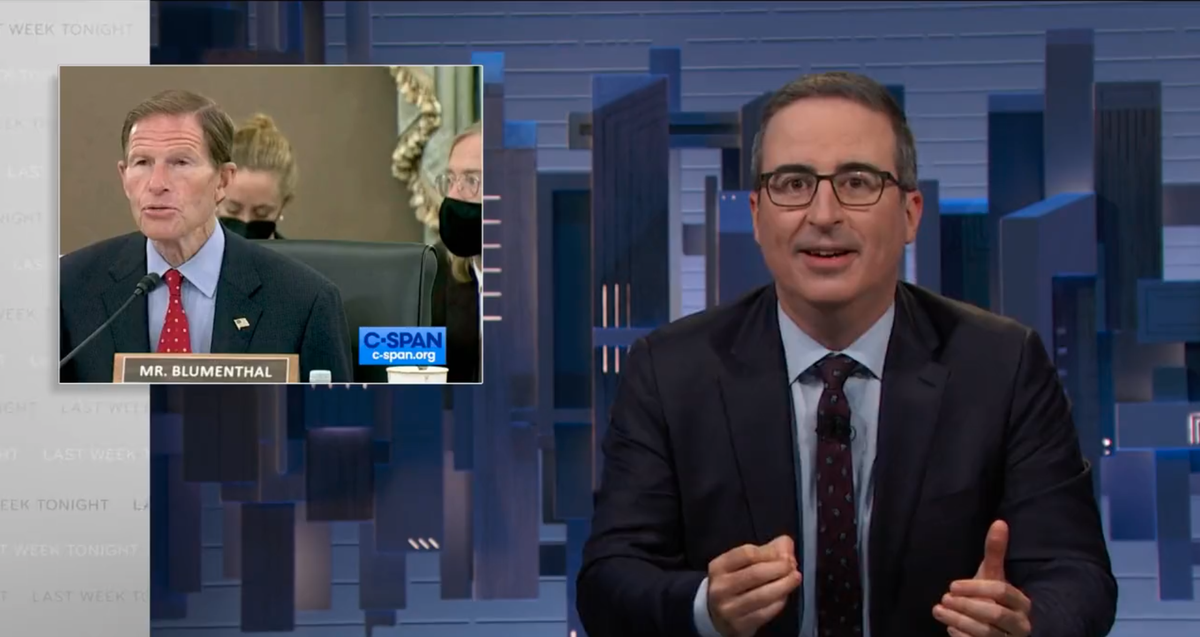 Senator mocked for 'finsta' question by John Oliver jokes and as Facebook goes down
