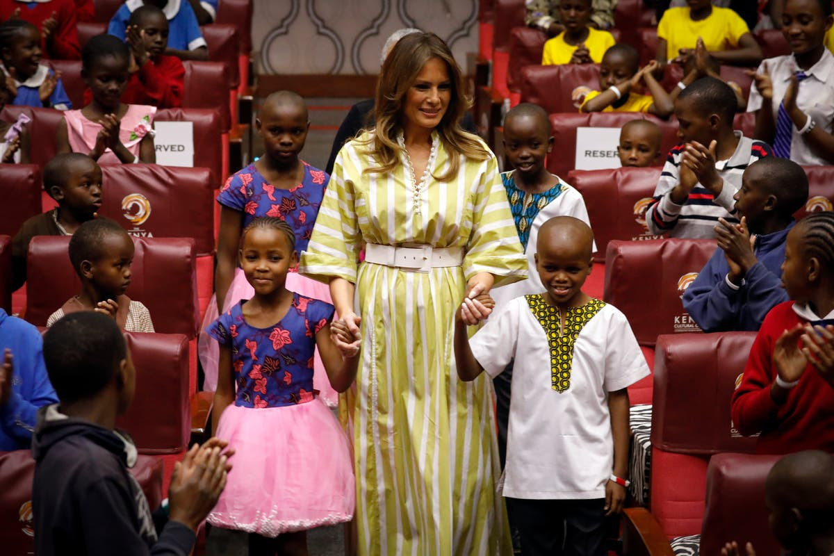 Melania wanted to send full-length mirrors to African children, book claims