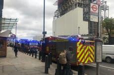 Westminster: Firefighters attend blaze at London underground station