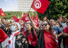 Strong backing for Tunisia's president distracts from deeper problems