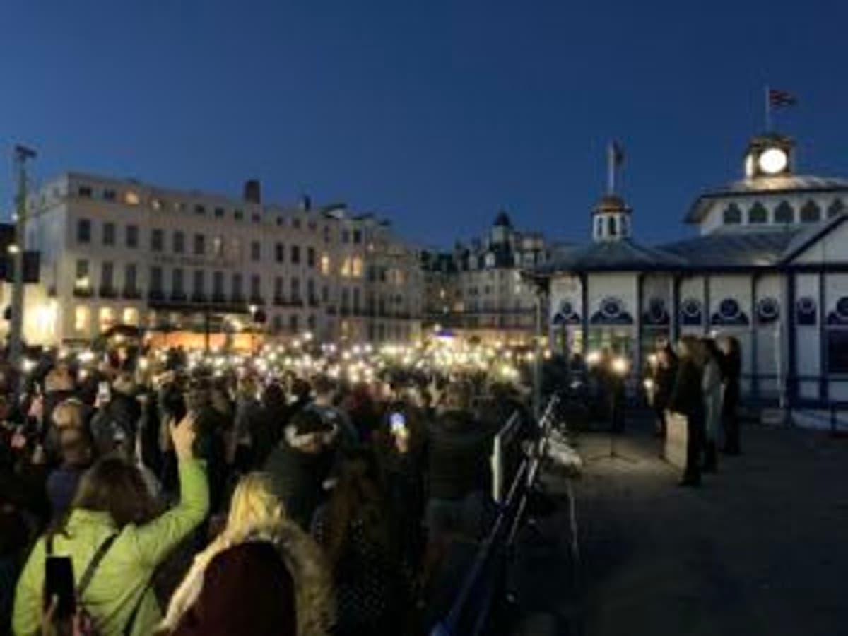 Emotional vigil held in Eastbourne for school teacher Sabina Nessa