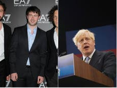 Friendly Fires call Tories 'bunch of corrupt w*****s' after Boris Johnson uses song