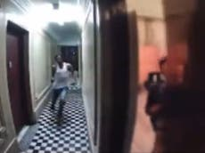 Woman narrowly escapes stalker sprinting to New York apartment in nail-biting video