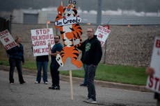 Kellogg's cereal plant workers go on strike