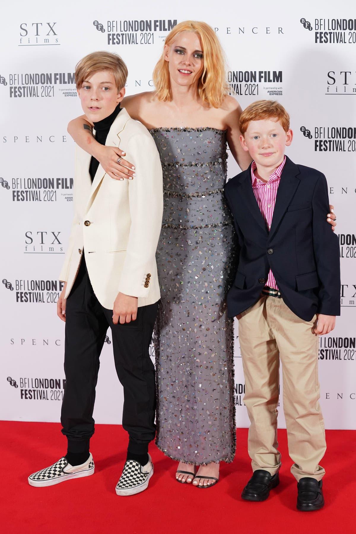 Kristen Stewart takes to red carpet at Spencer premiere